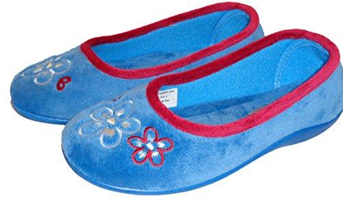 Mirak Slip on-Pantofole da donna stile Arles colore: blu/rosa