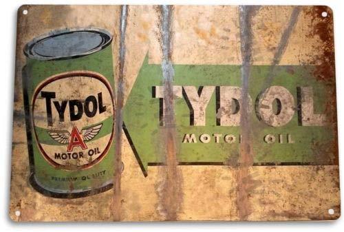TIN Sign Tydol Motor Oil Tin Metal Sign Gas Garage Retro Oil Gas Decor