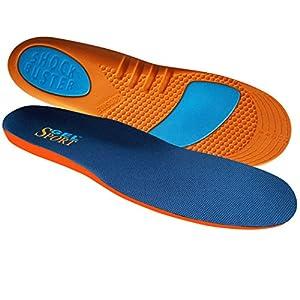 JobSite Gel Sport Insoles - Gel Heel & Metatarsal Shock Buster Help Prevent Everyday Foot Pain, Heel Pain, Metatarsal Pain & Plantar Fasciitis
