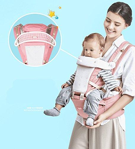 ZZQY Baby Front Strap Typ Multi Funktion Vier Jahreszeiten Allgemeine Belüftung Baby Kann Sitzen Größe Hocker Neugeborenes Baby Halten Baby Hocker Mutter Kind Reise Produkte, Rosa