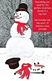 14 Piece Make Your Own Snowman Kit - Stored in a Top Hat!
