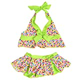 BAOHULU Little Girl Swimsuits 3-10 Years Two Piece Tankini Swimwear