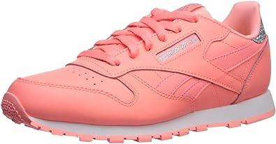 Rápido Alivio firma  Amazon.com | Reebok Unisex-Kid's Classic Leather Pastel Sneaker, Sour  Melon/White, 4.5 M US Big Kid | Sneakers