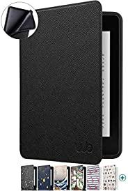 Capa Novo Kindle Paperwhite WB® - Ultra Leve Silicone Flexível Sensor Magnético Preta