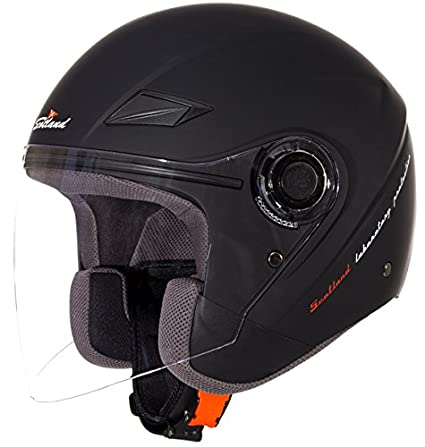 Amazon.es: Scotland Casco Moto/Scooter con Visera Larga Force 03, Negro Mate, 59-60 (L)