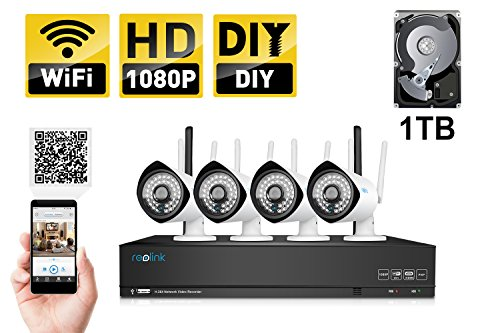 Reolink NVR wireless System with 4 Camera (RLK4-210WB4)