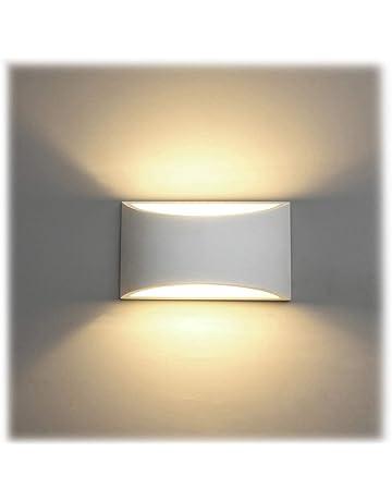 Appliques Murales Interieur, Blanc Lampe Murale LED 7W Blanc Chaud Moderne  Applique Murale En Plâtre