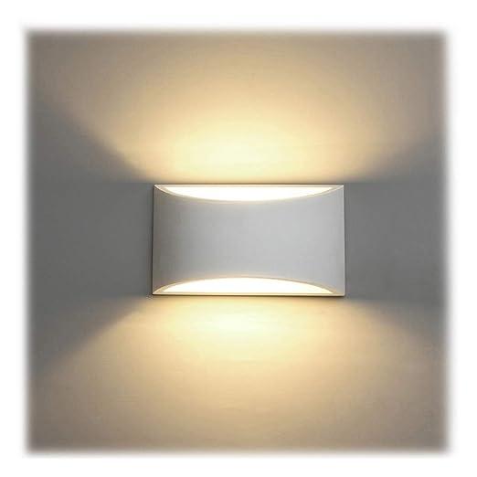 Applique da Parete Interno, 7W Intonaco LED Lampade da Parete Moderne  Bianco Caldo 2700K Applique Interni Decorativa per Soggiorno, Camera da  letto, ...