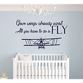 Your Wings Already Exist Quote   Nursery Airplanes In The Sky For My Baby    Baby