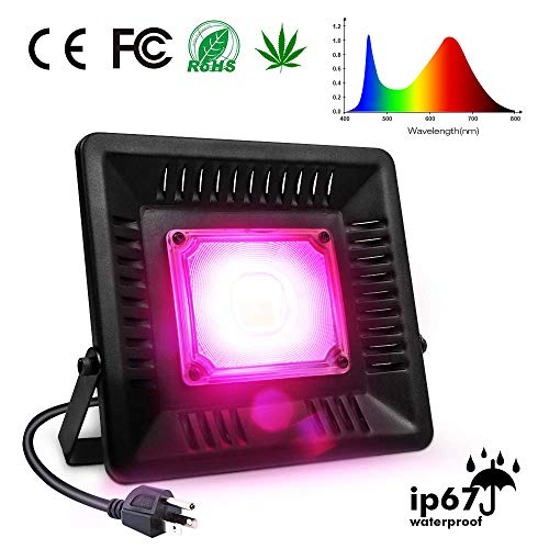 Waterproof LED Grow Light Relassy Full Spectrum Plants Lights, 150W COB Plant Light for Outdoor/Indoor Plants with Natural Heat Dissipation, No Fans No Noise, Outdoor/Indoor Plants Growing Lights