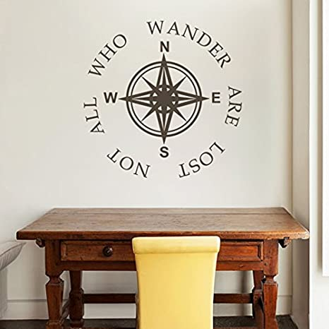NOT ALL WHO WANDER ARE LOST STICKER HOME WALL QUOTE DECAL VINYL WORDS STICKY ART