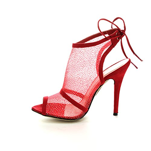 Geal Red 65121 Womens Easos Heel Ankle With Eah Outs Cut Back On Loop Lace High gqdnUA