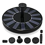 Royalsell Solar Fountain Pump, Free Standing 1.4W Bird Bath Fountain Pump for Garden and Patio, Solar Panel Kit Water Pump (Classic)