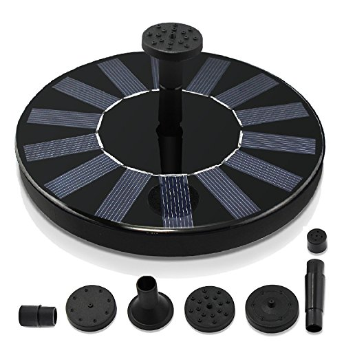 Royalsell Solar Fountain Pump  Free Standing 1 4W Bird Bath Fountain Pump For Garden And Patio  Solar Panel Kit Water Pump  Classic