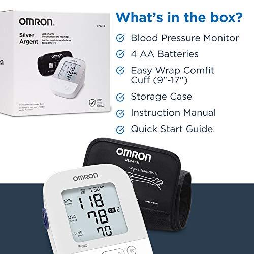 Omron Silver Blood Pressure Monitor, Upper Arm Cuff, Digital Bluetooth Blood Pressure Machine, Storesup To 80 Readings 6