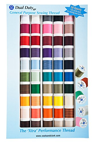 Coats XP All Purpose thread kit 50 Spool Box Assorted
