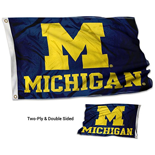 College Flags and Banners Co. Michigan Wolverines Double Sided Flag