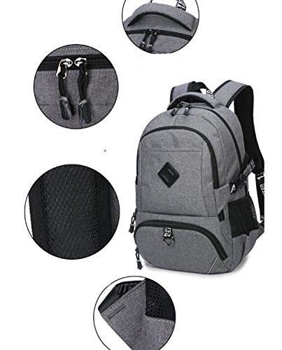 Bag Oxford Backpack School Notebook Waterproof Trip Backpack Backpack Pink Laptop Gray BwEnqvSfn
