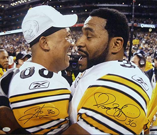Jerome Bettis & Hines Ward Autographed Pittsburgh Steelers 16x20 Photo (Autographed Hines Ward)