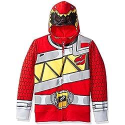 Power Rangers Little Boys' Character Hoodie, Red Dino, Medium/5/6