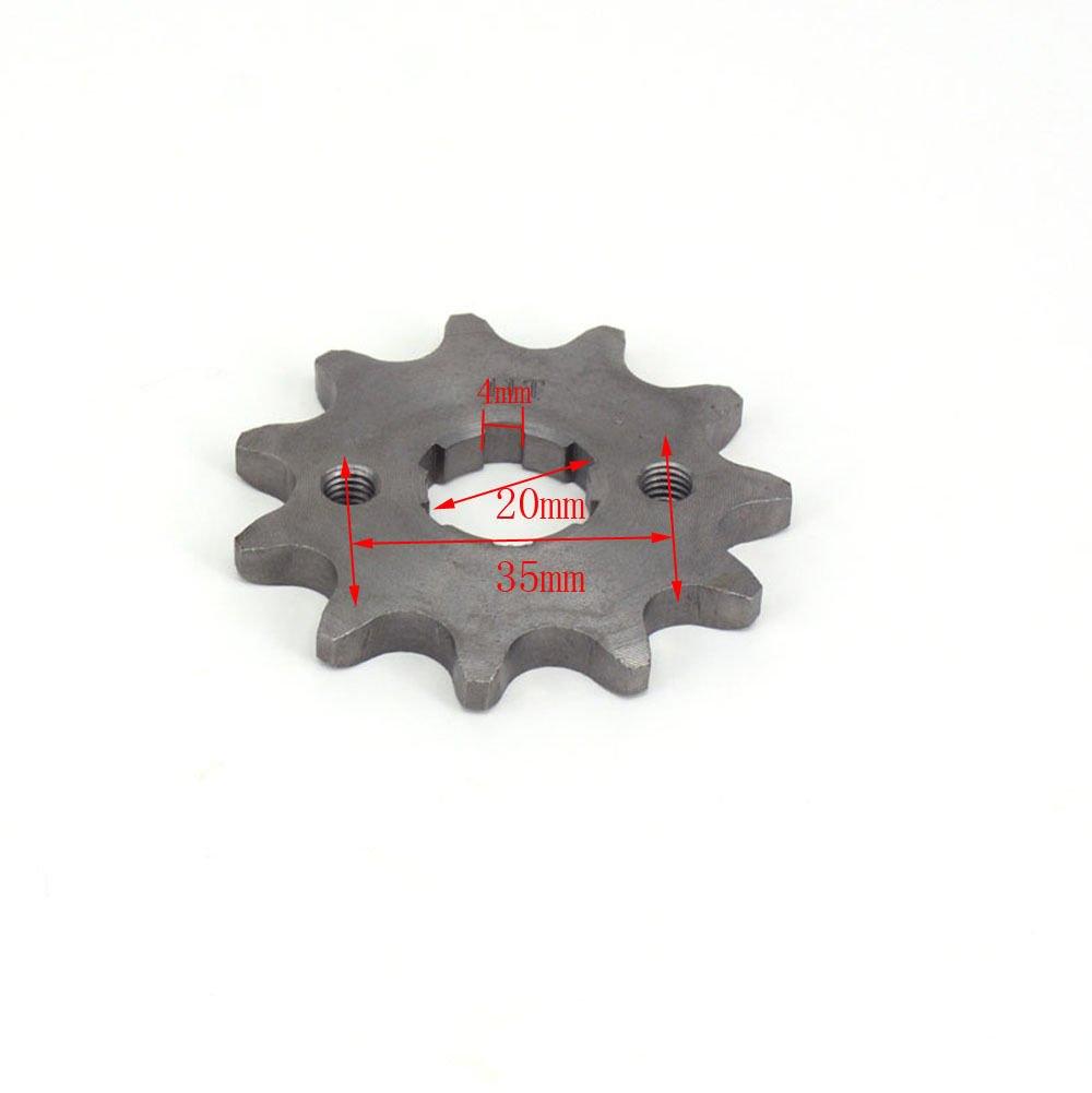 11T 20/mm vorne Ritzel f/ür 520/Zongshen LIFAN Motor Pit Bike Off Road