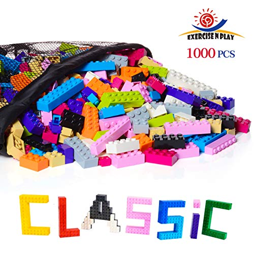 EXERCISE N PLAY -Building Bricks - Pastel Colors - 1000 Pieces - Compatible with All Major Brands