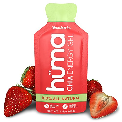 Huma Chia Energy Gel, Strawberries, 12 Gels - Premier Sports Nutrition for Endurance Exercise