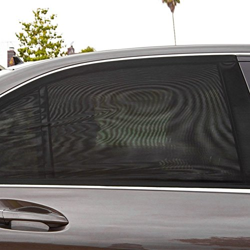 2Pcs Universal Car Side Window Sun Shade Breathable Mesh Sun Shield UV Rays Protection Auto Vehicle Trucks SUV Rear Window Curtain Folding Sun Visor Net, Protector Cover For You Baby and Family Against Sun's Glare