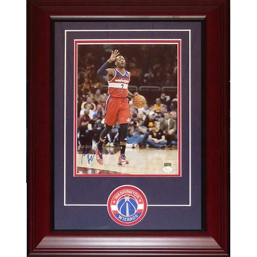 John Wall Autographed Signed Auto Washington Wizards Deluxe Framed 11 14 Photograph Patch JSA - Certified ()