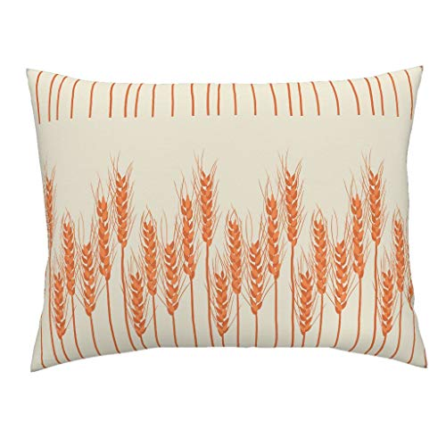 Roostery Autumn Standard Knife Edge Pillow Sham Rustic Fall Decor Red Orange Harvest Thanksgiving Decor Vibrant by Christina Steward 100% Cotton - Sham Standard Christina