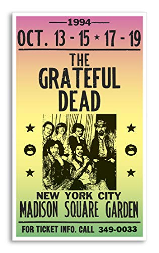 "Grateful Dead - Madison Square Garden 13""x22"" Vintage Style Showprint Poster - Concert Bill - Home Nostalgia Decor Wall Art Print from Per Diem Printing"