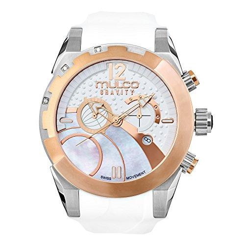 Mulco MW5-3799-013 Gravity Ios Swiss Chronograph White Watch