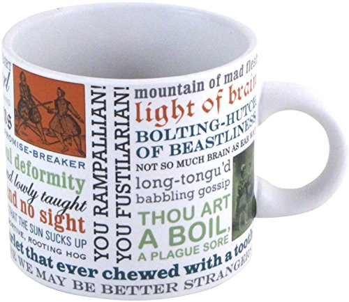 Shakespearean Insults Coffee Mug   Shakespeares Wittiest And Meanest Insults   Comes In A Fun Gift Box