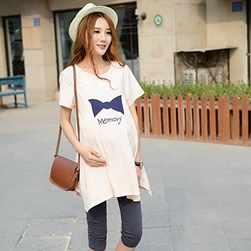 corta Mujer Algod Camiseta Larga Manga Embarazo Maternidad Acmede Verano d0785Odq