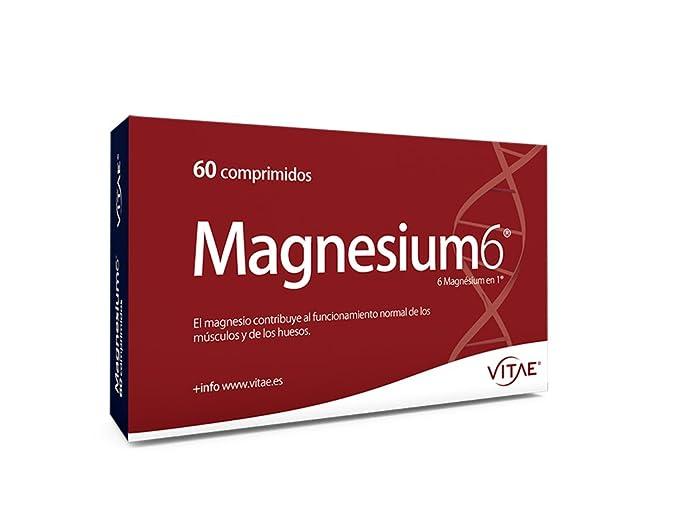 Vitae Magnesium6 Complemento Alimenticio - 60 Tabletas: Amazon.es: Salud y cuidado personal