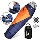 WhiteFang Sleeping Bag with Compression Sack,Lightweight and Waterproof for Adults & Kids,3-4 Season Mummy Sleeping Bags Great for Hiking, Backpacking,Camping and Outdoor