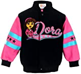 J.H. Design Girls Dora and Friends Snap Up Jacket Black and Pink Jacket for Toddlers