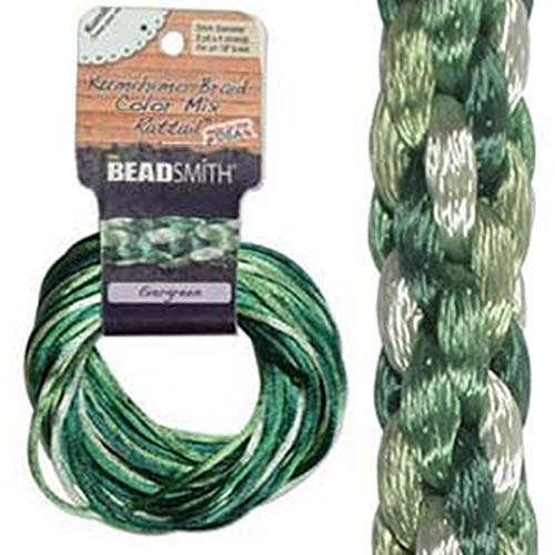 Satin Rattail Braiding Cord - 3mm - Evergreen Mix - 3yds Each Color/12yds Total - By Stallings Stained Glass