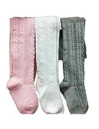 3PCS/Lot Baby Girls Cotton Tights Toddlers Leg Warmer Stocking Sock Dress Pantyhose