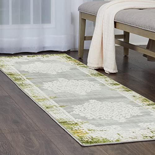 Home Dynamix Palmyra Rene Runner Area Rug 2 2 x7 9 , Distressed Green