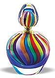 "Badash Art Glass Rainbow 7"" Perfume Bottle"