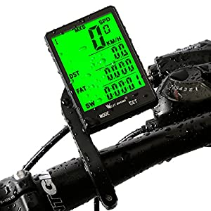 Yopoon Cycle Computer, Bike Odometer Speedometer for Bicycle, Waterproof LCD Automatic Wake-up Backlight Motion Sensor for Bycicles Cycling Accessories
