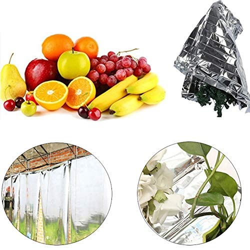 Yamalans Foldable Plant PETP Reflective Film Garden Greenhouse Cover Accessories Silver 210cm x 120cm by Yamalans (Image #4)
