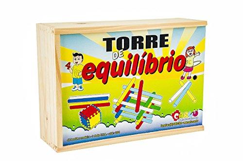 Torre de Equilíbrio Madeira Carlu Brinquedos