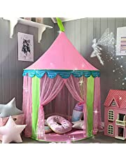 Princess Castle Play Tent with Tote Bag for Girls Indoor Outdoor Use, By Tiny Land