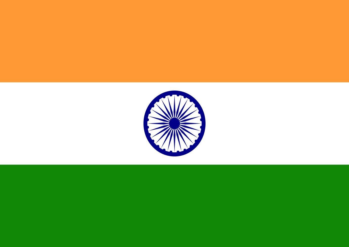 Toland Home Garden Flag of India 12.5 x 18 Inch Decorative Country Nation Garden Flag