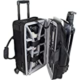 Protec Carry On iPAC Camera/Laptop Case with Wheels - Black