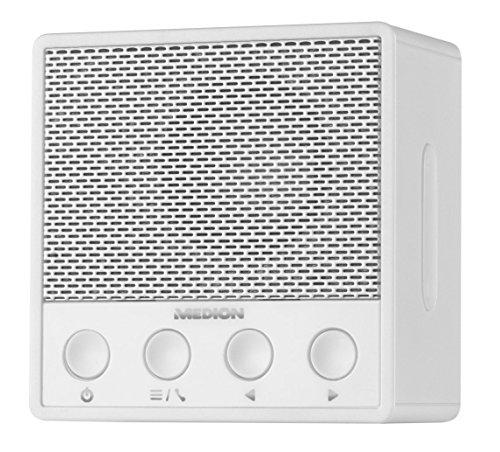 MEDION LIFE P66070 Bluetooth Steckdosenradio (MD 84979) Bluetooth 4.1, NFC, PLL UKW Radio, 1 x 3 Watt RMS, weiß