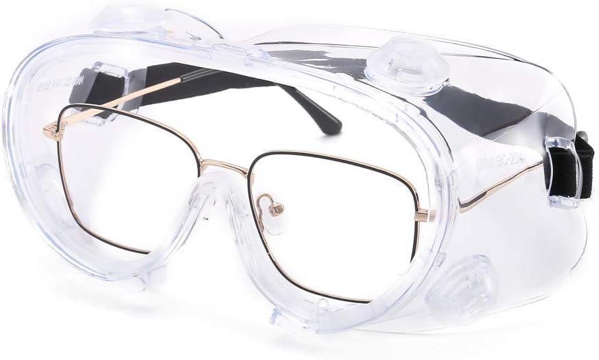 Suertree Gafas de Seguridad, Gafas Protectoras en Gafas Gafas industriales Las Gafas Pueden usarse en Gafas Normales Gafas de Seguridad Transparentes Generales con EN166