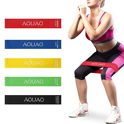Resistance Bands Exercise - Set of 5, 12-inch Workout Bands